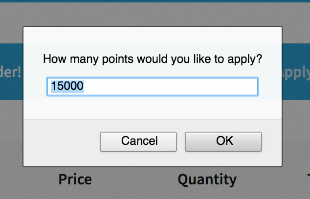 How many points would you like to apply?